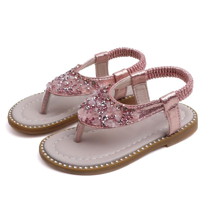Sandals For Children Girl Shoes Summer Baby Girls Shoes Toddler Kids Rhinestone Single Princess Roman 1-7Y