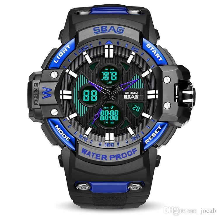 b09944096184 Compre 2019 Hombres Reloj Deportivo Relojes Hombres Reloj Deportivo Blanco  LED Digital 30 M Impermeable Reloj Casual S Shock Hombre Reloj Relogios  Masculino ...