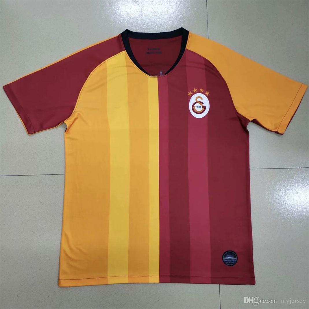 designer fashion 688cf 188c5 2019 Galatasaray New Soccer Jerseys TURKEY 19 20 Galatasaray Spor Kulubu  Away Black Football Shirts 2018 Football Uniform Sales