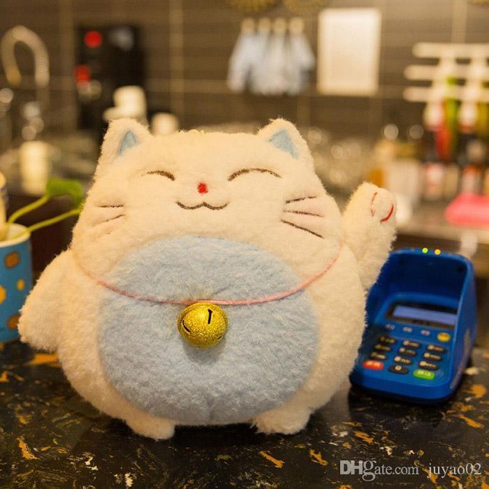2019 Hot Kawaii Lucky Cat Cute Cartoon Plush Animals Toys Fortune