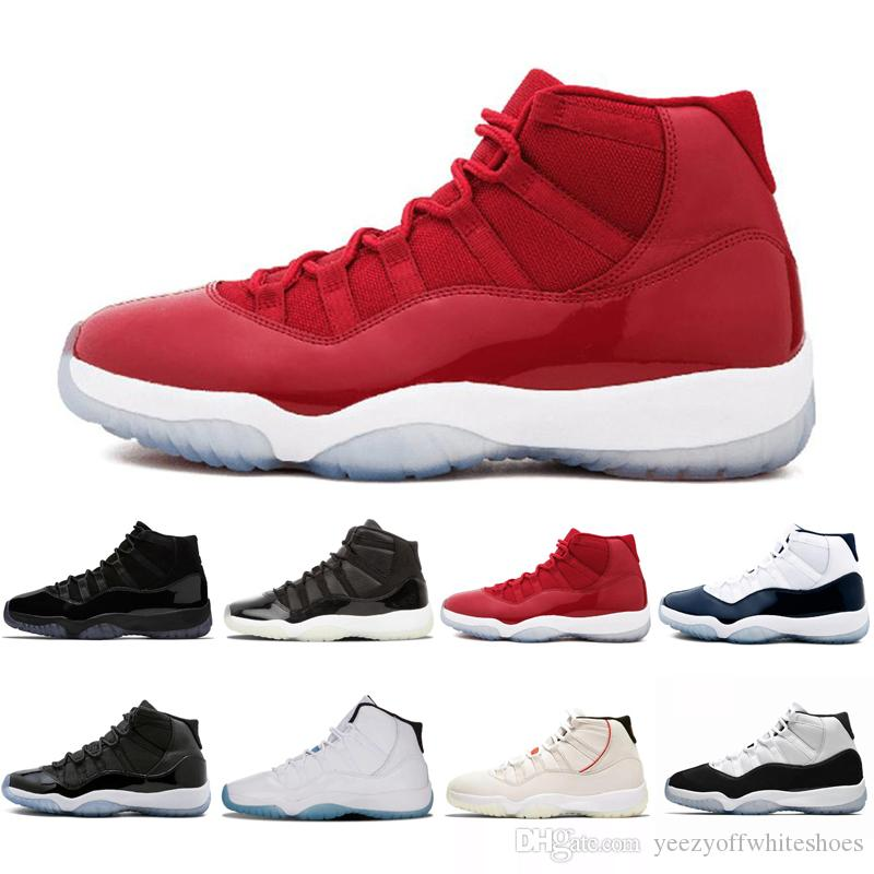 Compre 11 Gorro Y Bata De Color Platino Gimnasio Rojo Estingray Negro OVO  Midnight Navy Bred Shoes 11s Mens Para Mujer Baloncesto Zapatilla Deportiva  Drop A ... 583bad152e0