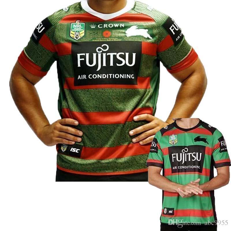 2019 Aaa 2019 Jerseys Australia South Sydney Rabbitohs Australia Nrl National Rugby League South Sydney Rabbitohs 2018 Anzac Jersey Size S Xxxl From Abc9955 13 26 Dhgate Com
