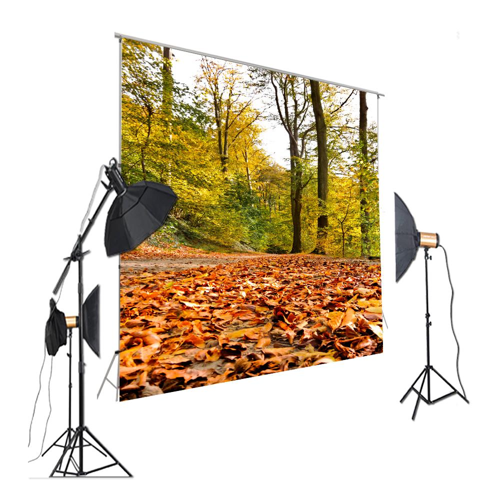 HUAYI Photography Backdrop Autumn Leaves Backdrop Tree Background Nature Leveaves Outdoor Scene For Photostudio XT-7337