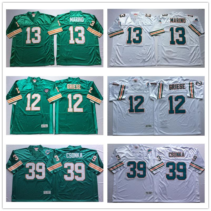 7e8879fee Mens Dan Marino Football Jersey Retro Bob Griese High Quality ...