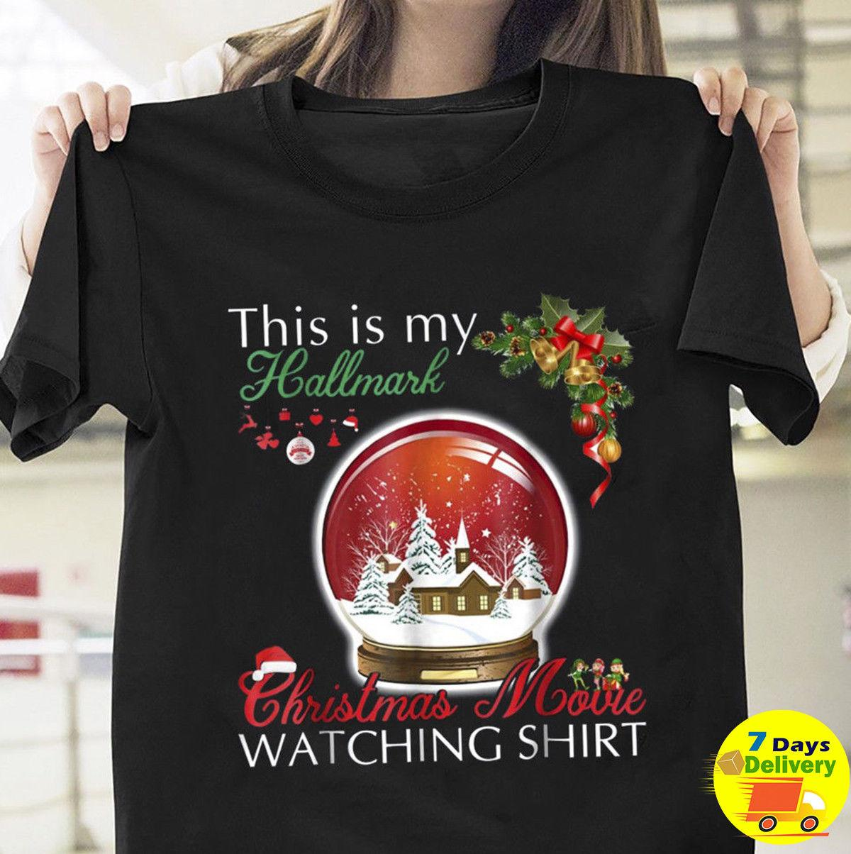 d018fed2b789 This Is My Hallmark Christmas Movie Watching Shirt Black Men T Shirt Xmas S  3XL Funny Unisex Casual Tshirt Top Quirky T Shirt Designs Purchase T Shirt  From ...