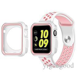 445ac9616c8 Compre Caso De Proteção Com Pulseira De Silicone Esportes Banda Colorida  Para Apple Watch Iwatch 38 42 Mm Pulseira Série 3 21 Caso De Relógio De  Yigeegood