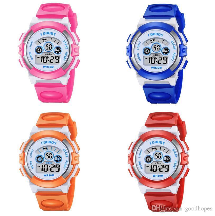 07c9963f8 Children Kids Watch Boys Girls Multifunction Electronic LED Digital  Wristwatch Students Sport Waterproof Watches Birthday Gift Watch Stylish  Watches ...