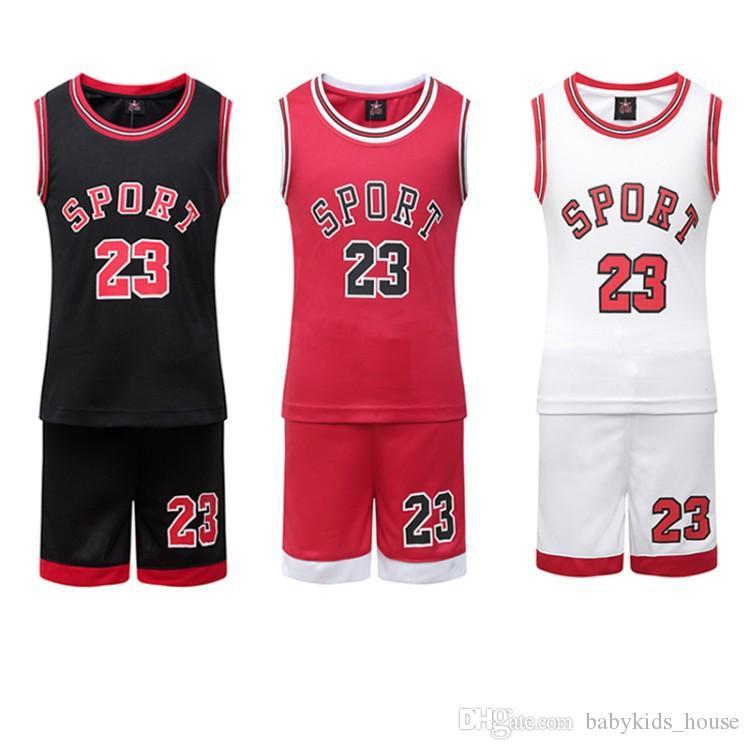 46ee9a15e Compre Juegos De Camisetas De Baloncesto Para Niños Juegos De Uniformes  Ropa De Deportes Para Niños