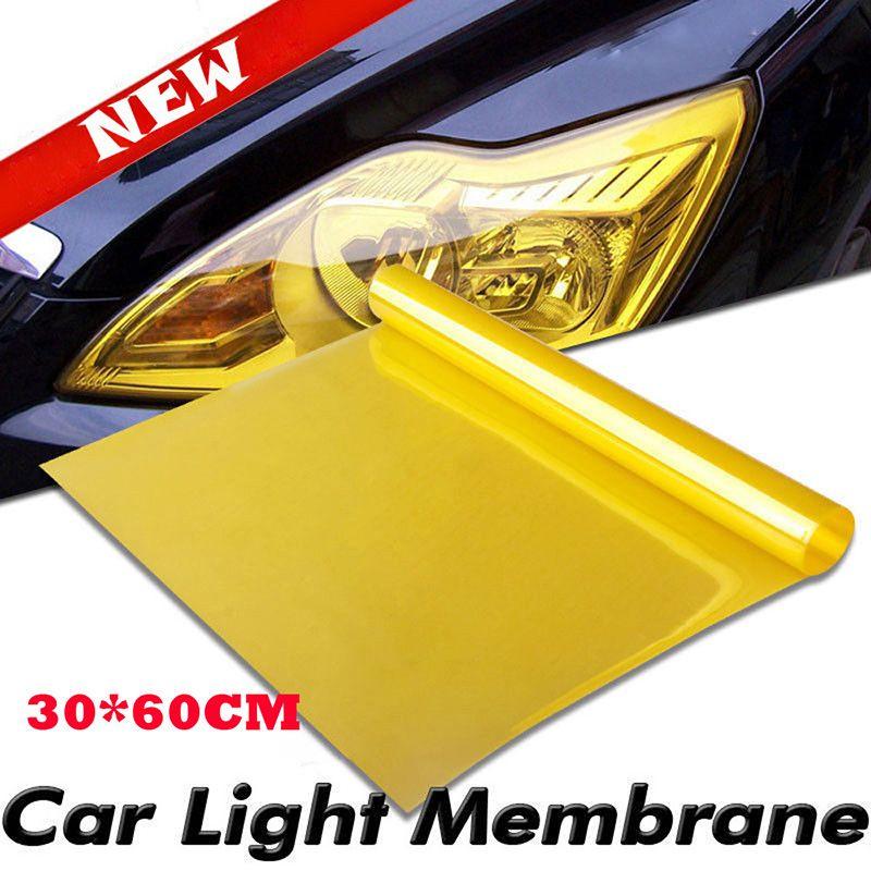 Lampe de voiture Film phare Feu arrière autocollants en vinyle Film Feuille transparente autocollant 30 * 60CM Auto Styling Phares antibrouillard Multicolor