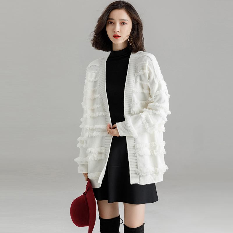 2019 Women Winter Coat Thick Cotton Long Sleeve Loose Knitted Sweater  Cardigan Pocket Outwear Coat Ladies Elegant Clothes From Aprili e3cec6455