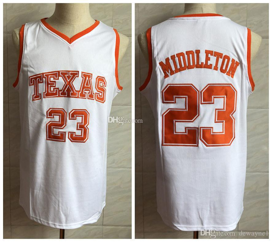 newest 13c22 3c0fb #23 Khris Middleton Texas Longhorns college Retro Classic Basketball Jersey  Mens Stitched Custom Number and name Jerseys