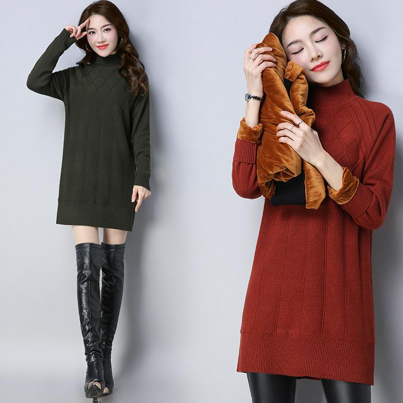 Korean Fashion Damen Pullover Rollkragen Strickhemd Langarm Stretched Solide Verdicken Pullover Tops 2019 Herbst Winter Jumper