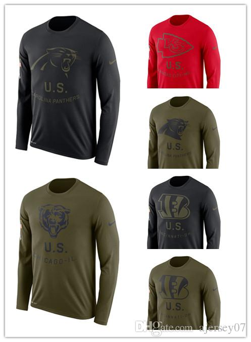 brand new 0c197 95988 2019 Men hot Bengals 49ers Bears Panthers Salute to Service Sideline Legend  Performance Long Sleeve T-Shirt