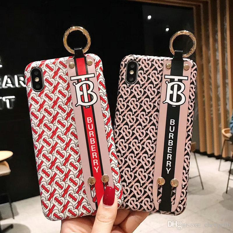 Brand design letter wristband phone case cover for iphone Xs max XR X 7 7plus 8 8plus 6 6plus Anti-fall shell