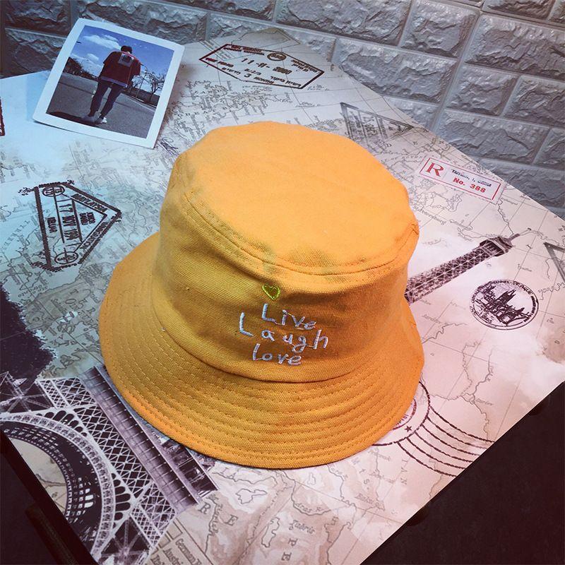 3dedd32ed33 The Joker Solid Color Embroidery Bucket Hat Fisherman Hat Outdoor ...
