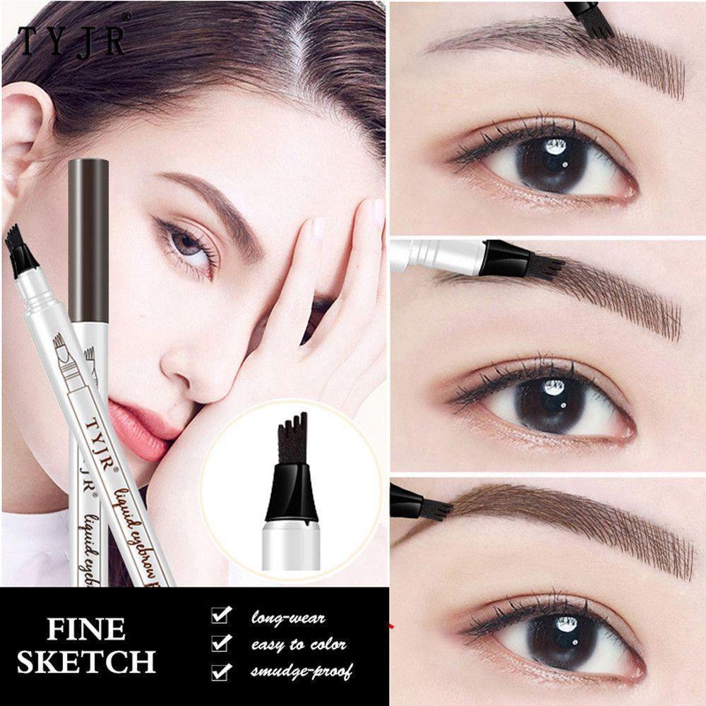 2018 New Style Eyebrow Tattoo Pen Waterproof Fork Tip Sketch Makeup