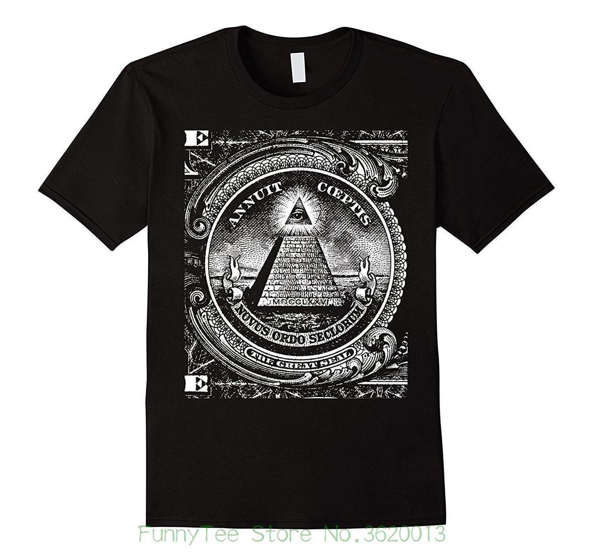 1c3b33c7f726 Mens Dollar All Seeing Eye Illuminati Freemasons Pyramid T Shirt Funny  Sports T Shirts Men T Shirts From Jie030, $14.67| DHgate.Com