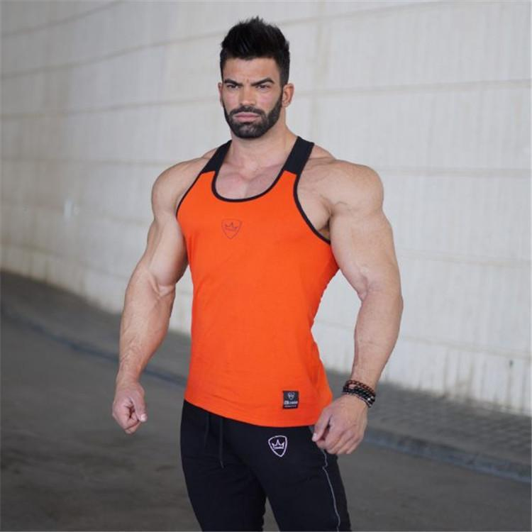 d115eb14 2019 Men Bodybuilding Tank Top Gyms Workout Fitness Tight Cotton Sleeveless  T Shirt Clothing Male Casual Vest T Shirt Making T Shirts For Sale From ...