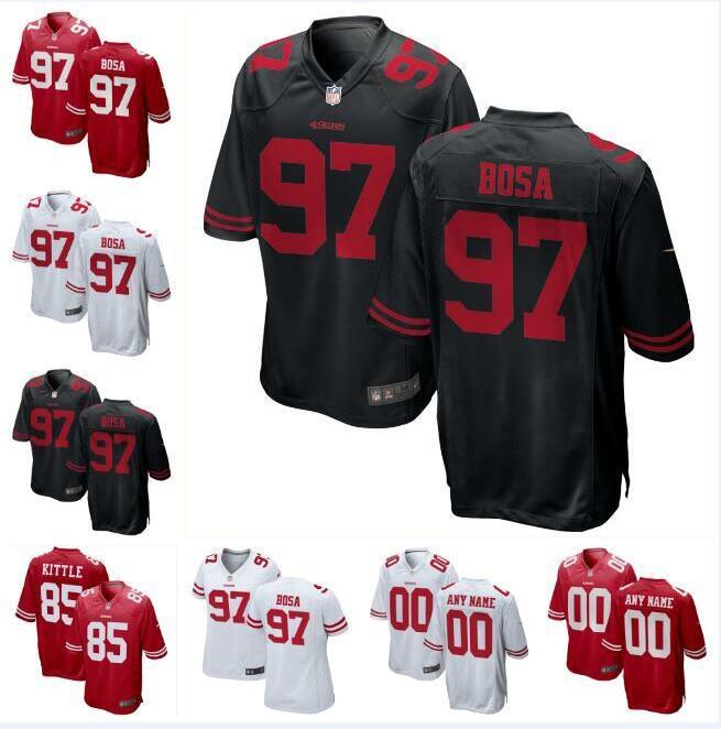 7fc08966 Nick Bosa Jimmy Garoppolo 49ers Jersey George Kittle Deebo Samuel Dre  Greenlaw cheap custom american football jerseys 4XL 5XL 6XL service