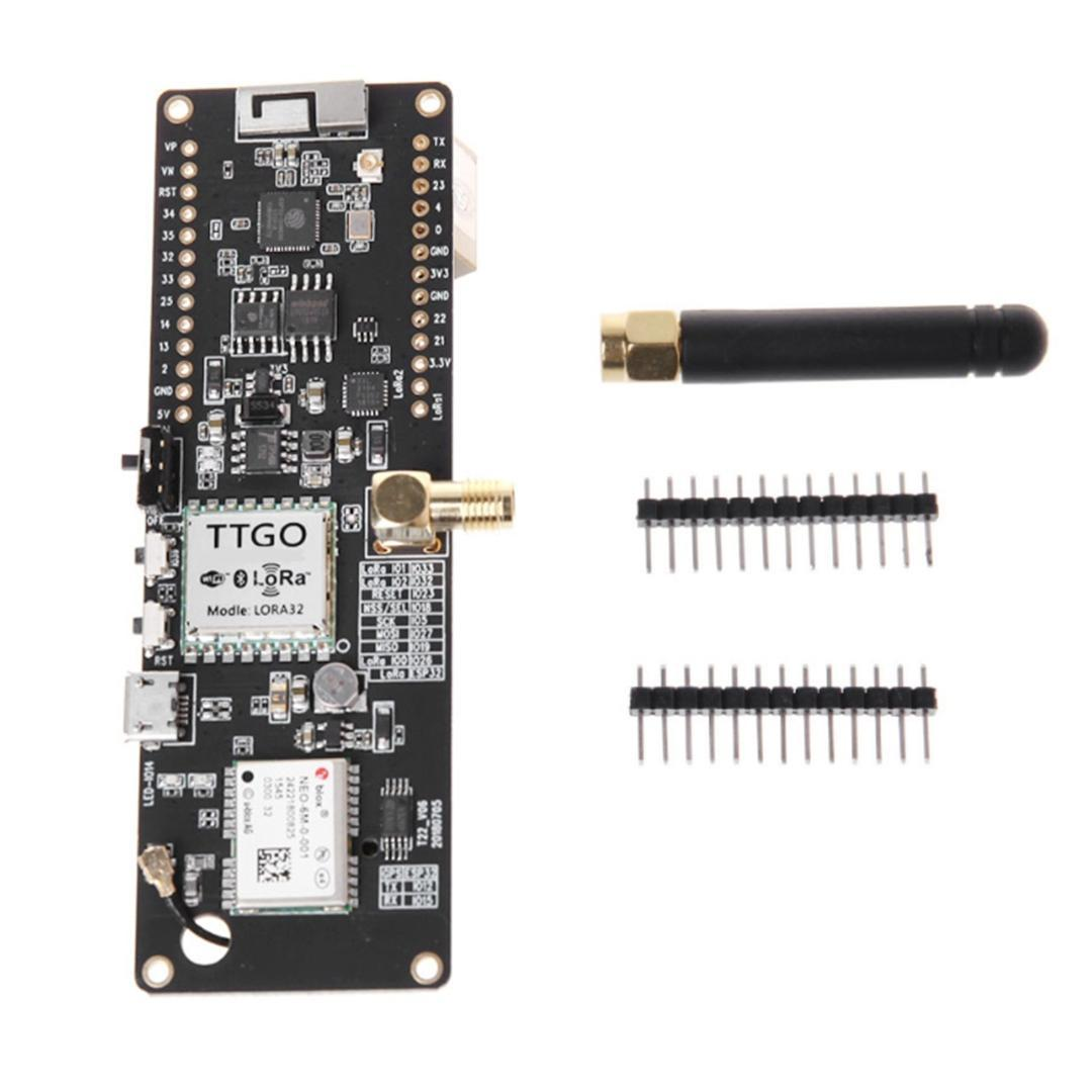 Ttgo T-Beam Esp32 868Mhz Wifi Wireless Bluetooth Module Esp32 Gps Neo-6M  Sma Lora 32 18650 Battery Holder With Softrf