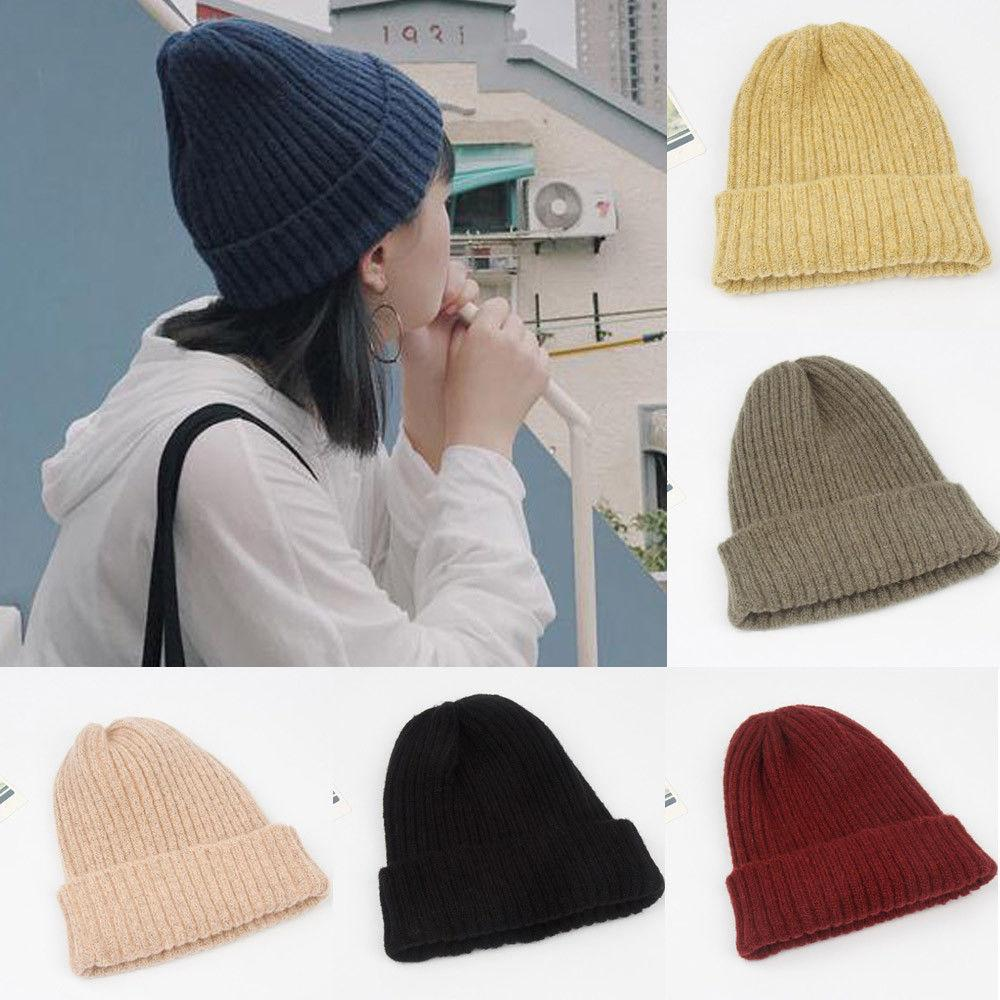 Fashion Brand Newest Men S Women Beanie Knit Ski Cap Hip Hop Blank Color  Winter Warm Unisex Wool Hat Oversized Warm Hats Baseball Hat Beach Hats  From ... 1f0f906a0b7