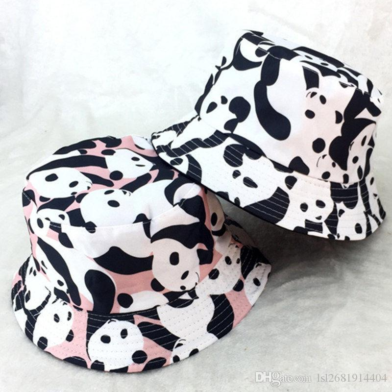 aae9297eae9a8 2018 Cow Print Bucket Hat Fisherman Hat Outdoor Travel Hat Sun Cap Hats For  Men And Women 245 Beanie Hats Winter Hats From Lsl2681914404