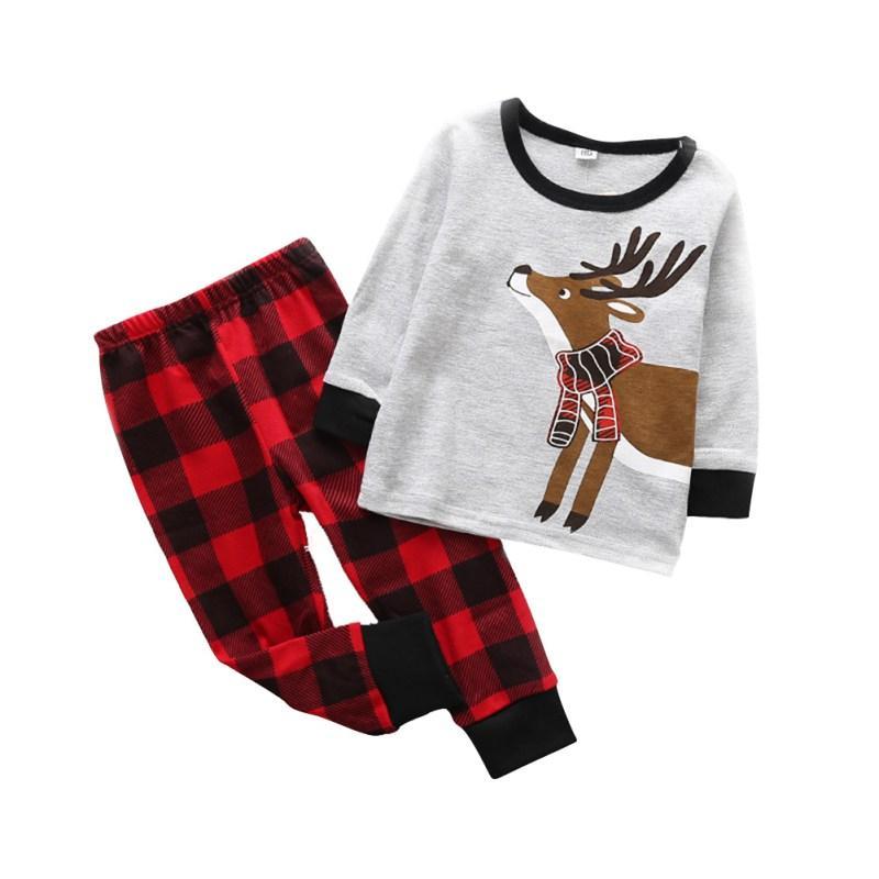 fb753fb644a7e Baby Boy Clothes Christmas Kids Clothes Long Sleeve Cartoon Pattern T-shirt  Top Pants 2PCS Kid Boy Clothing Autumn/Winter sz
