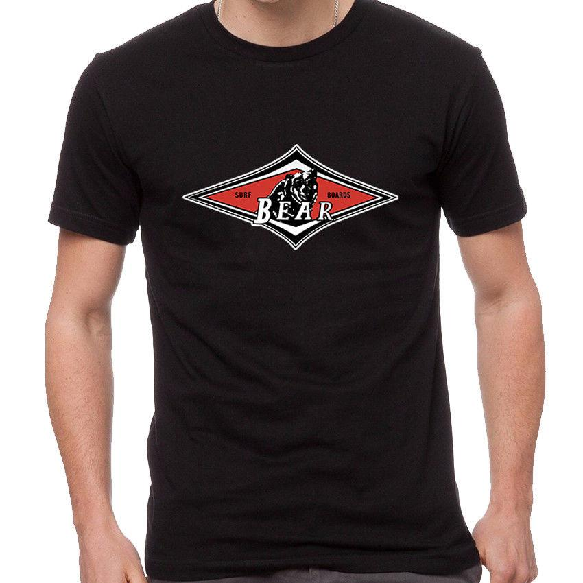 af34ed4aa2d203 Bear Surfboards Big Wednesday Beach Longboard Fin Logo T Shirt BSU 0001 Men  Women Unisex Fashion Tshirt Black A T Shirts Fun T Shirts Online From ...