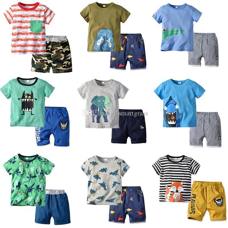 6886a3bf347e9 2019 Sets Baby Boy Clothes Short Sleeve Design Baby Clothes Cute ...