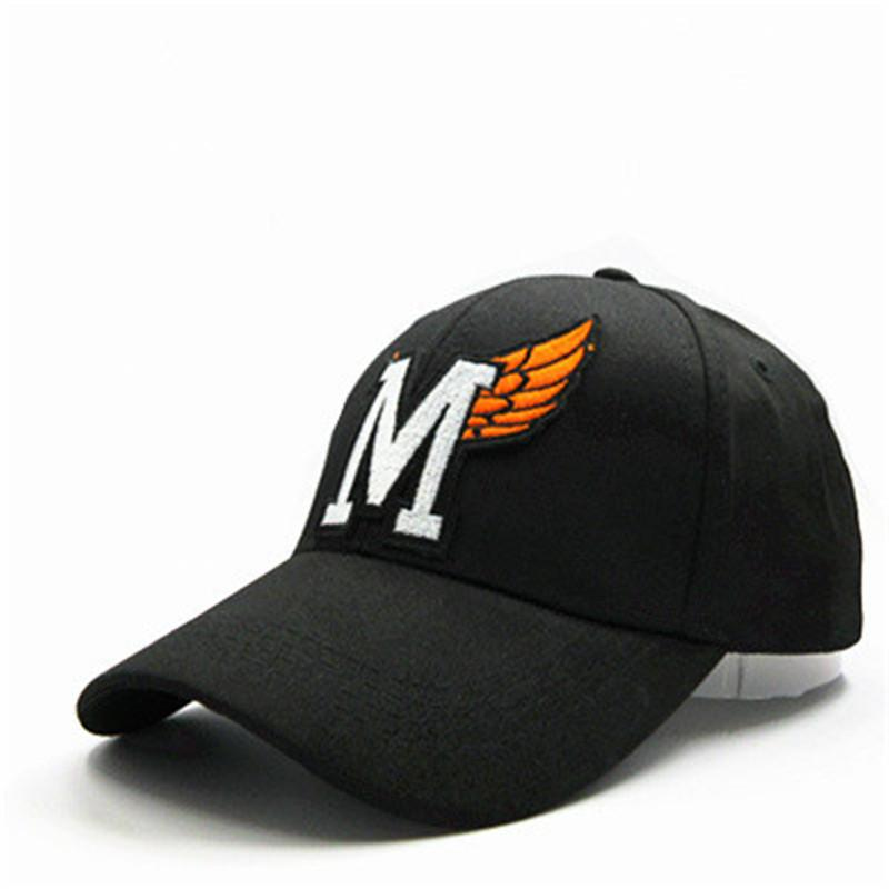 M Letter Feather Embroidery Cotton Casquette Baseball Cap Hip Hop Cap  Adjustable Snapback Hats For Kids Men Women 343 Army Hats Custom Caps From  ... c4044cd078f0