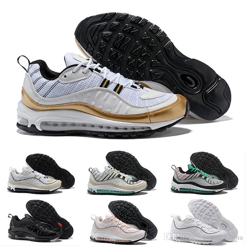 32b525536c6383 Max 98 Running Shoes For Men Womens Air Cushion Gundam Tour White ...