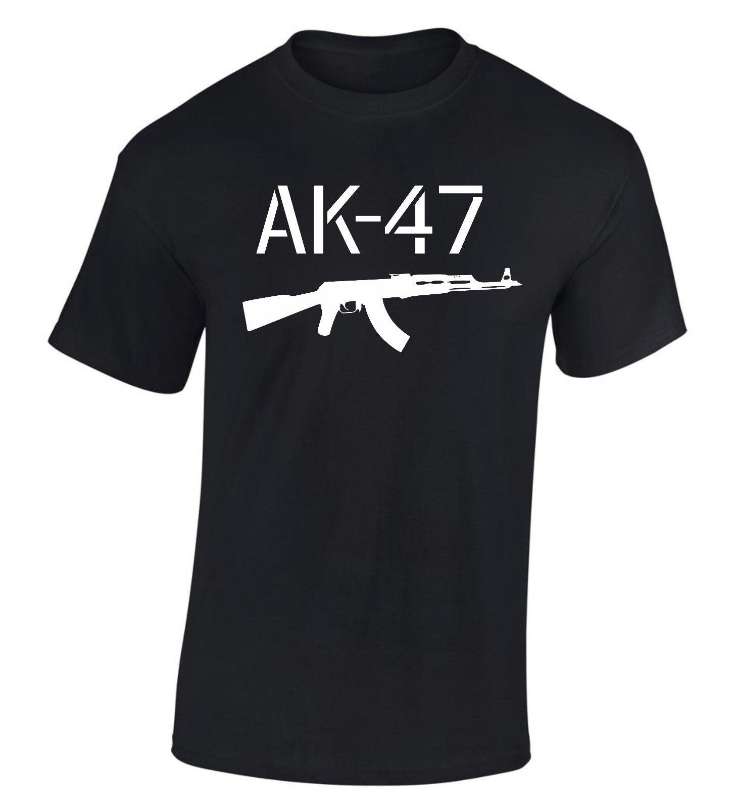 Großhandel Ak 47 Kalashnikov Ak47 T Shirt Russia S Xxxl Kostenloser