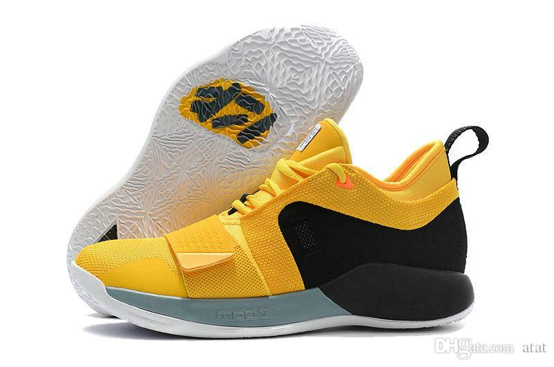 the latest 6644d d9b2d Latest PlayStation X PG 2.5 Wolf Grey Optic Yellow Champion Black Mens  Designer Casual Sports Shoes Cheap Paul George Sneakers Size US7 12  Discount Shoes ...