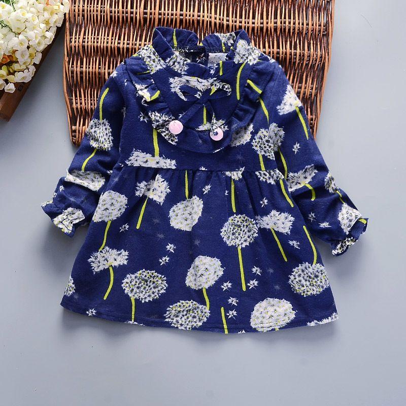 4a9145e06 2019 Good Quality New Baby Kids Dresses Children Girls Long Sleeve ...