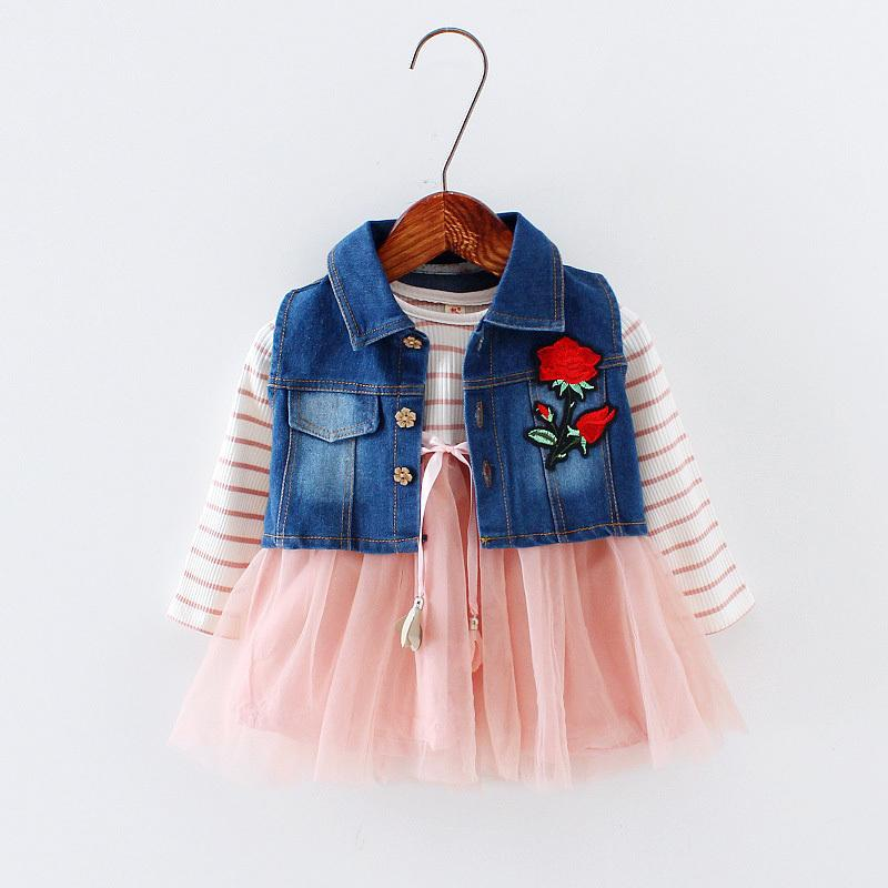 5aae3286fe 2019 Good Quality Autumn Baby Girls Dress Cotton Toddler Girls Dress Kids  Children Girl Mini TuTu Dresses Coat+Shirt+Skirt For Baby From Nextbest09
