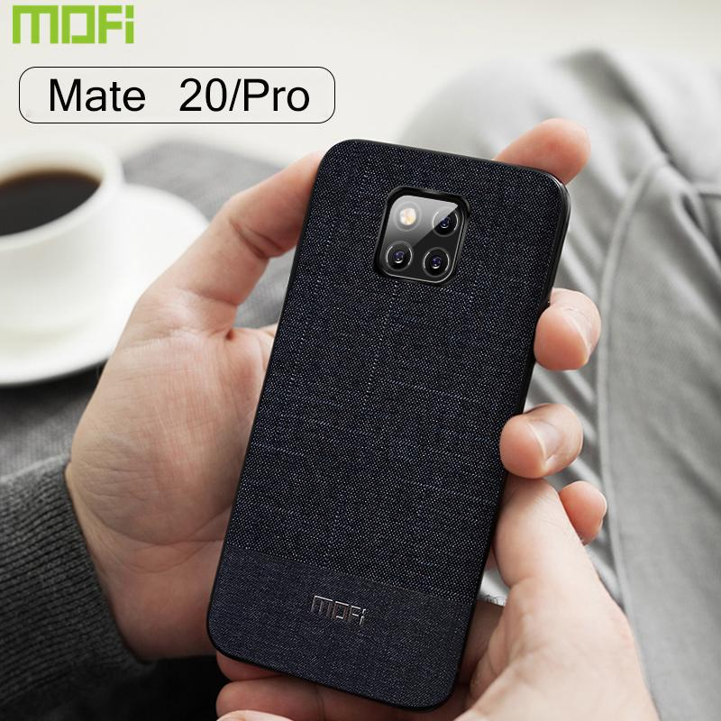newest collection c176f 368ee For Huawei Mate 20 pro Case Mofi For Huawei Mate 20 Case Back Cover  Handcraft Gentleman Fabric Suit Cloth Bussiness Mate20 Pro