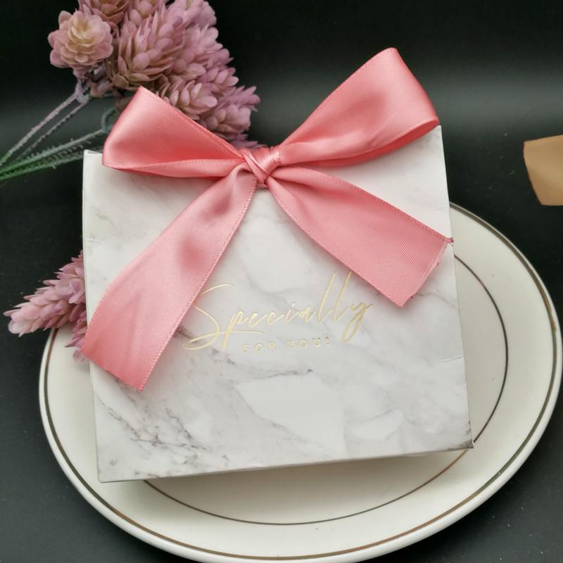 Grey Marble Lines Candy Bag Box for Party Table Decoration/Event Party Supplies/Wedding Favours Gift Boxes