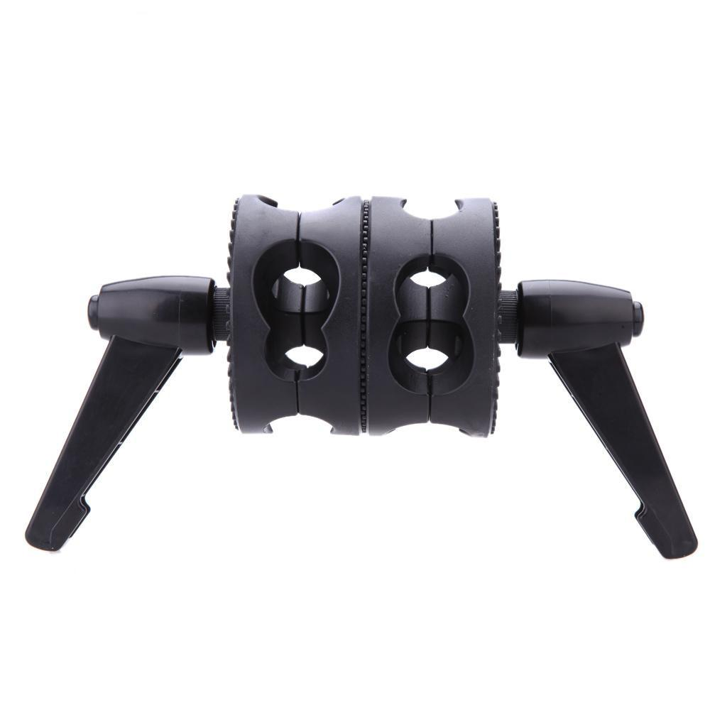 grip head Andoer Dual Swiveling Grip Head Angle Clamp for Photo Studio Boom Arm Reflector Holder Stand