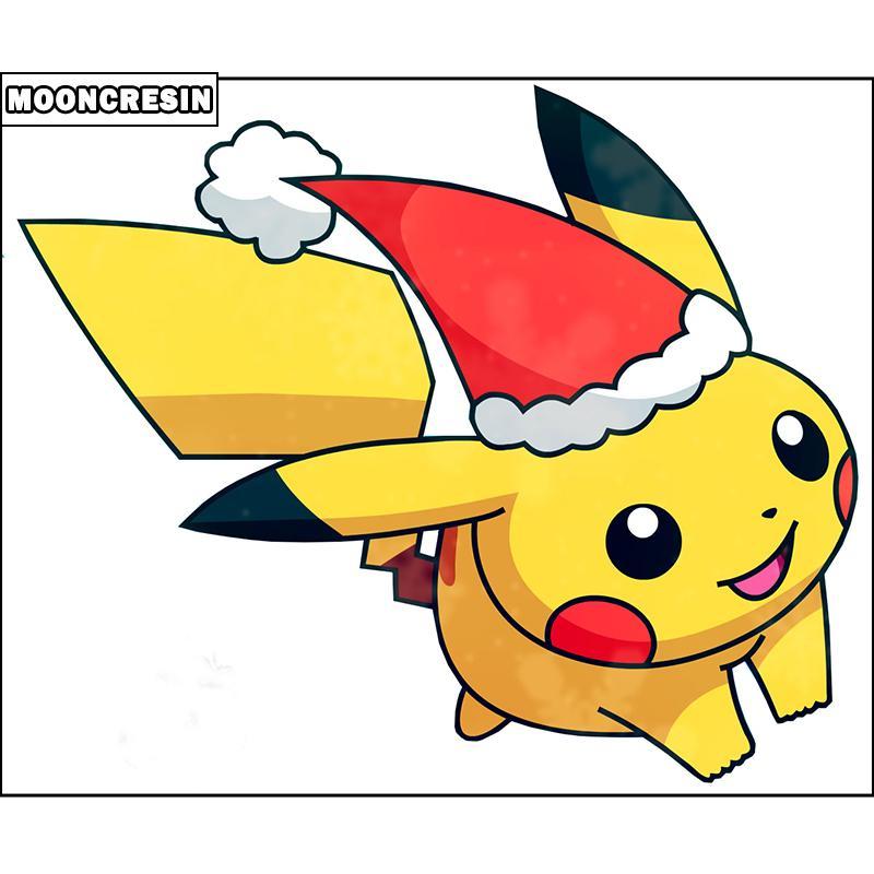 Satın Al 5d Elmas Boyama Noel Pikachu Tam Kare Iğne Diy Elmas Nakış