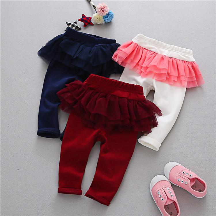 Kids Baby Girls Skirts Spring Autumn Skirt Leggings Gauze Mesh Pants Party Skirts Tutu Candy Princess Dance Clothing 0-3 Years