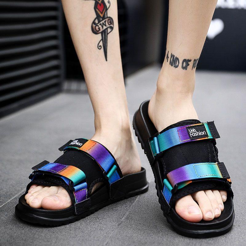 Los Al Moda 2019 Ocio Zapatillas Suela De Aire Zapatos Antideslizantes Verano Ojotas Sandalias Suave Libre Hombres Masculinas bf7YgvI6y