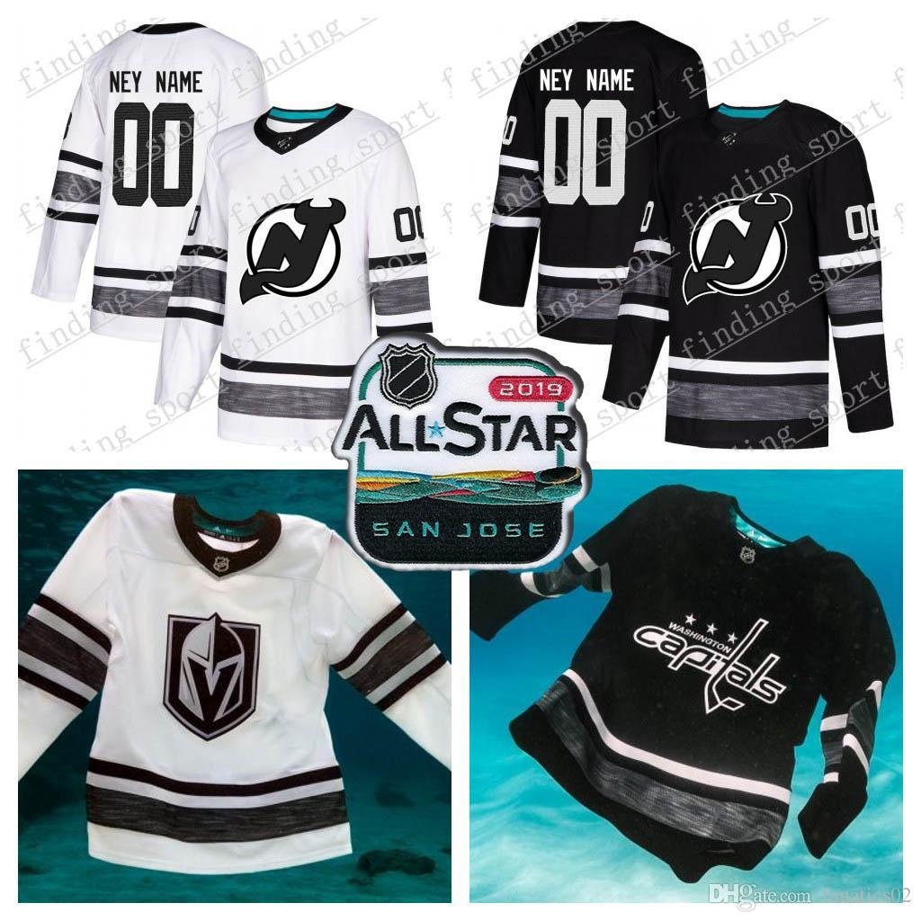 534bf25cb Customized Men Women Youth New Jersey Devils 2019 All-Star Game Parley  Authentic Hockey Jersey White Black 13 Nico Hischier 35 Schneider 2019  All-Star ...