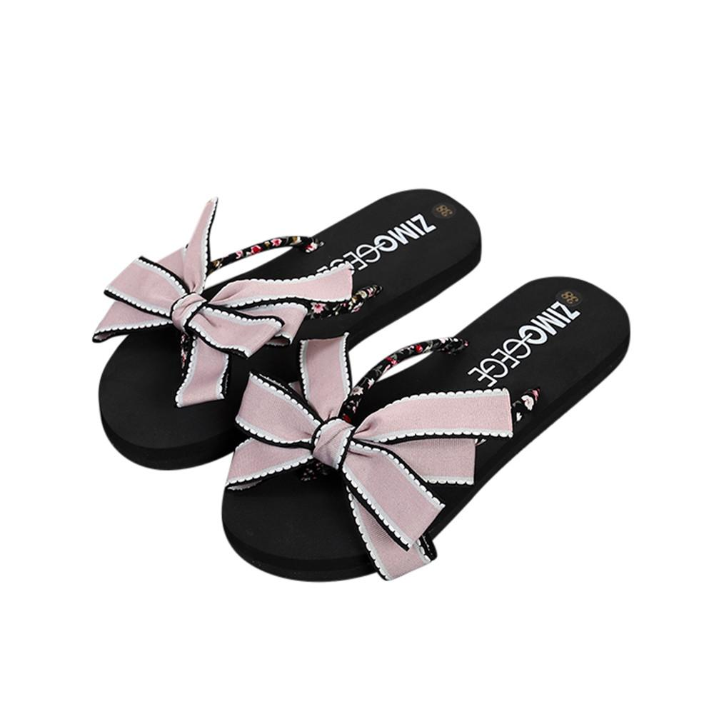 a1b4fae75 Women Bow Summer Slipper Slipper Indoor Outdoor Flip Flops Luxury Brand New  Arrivals Cut Out Summer Beach Slippers Shoes  89 Slipper Boots Slipper  Socks ...