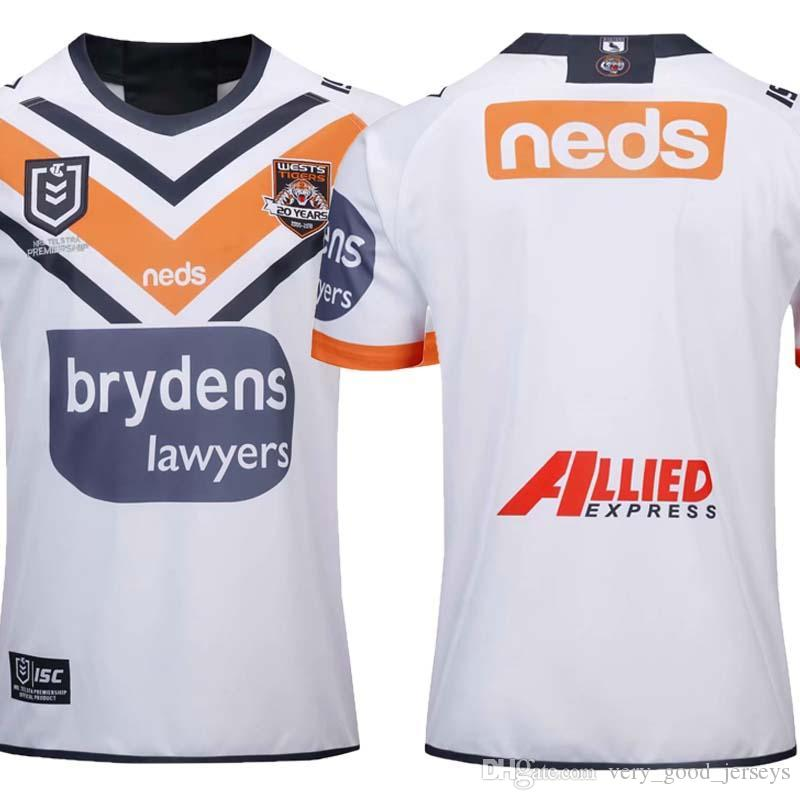 41cae23d33c 2019 Top Quality 2019 2020 WESTS TIGERS HOME Away JERSEY FLEXI BUNDLE NRL  National Rugby League Nrl Jersey Wests Tigers Rugby Jerseys Shirt S 3xl From  ...