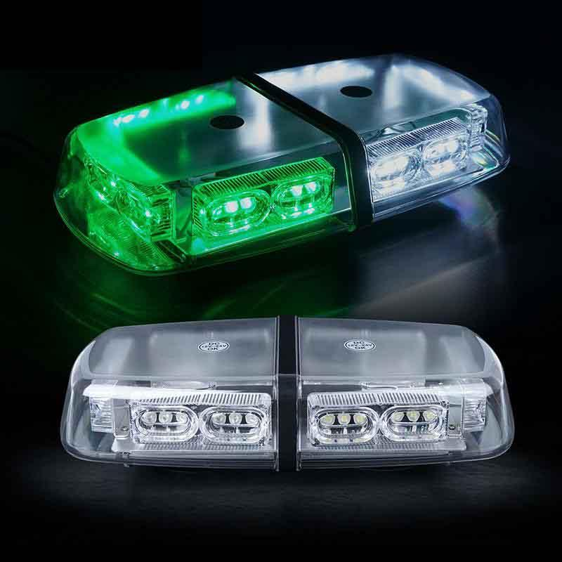 White Green 36 LED 18 Watts Roof Top Magnet High Intensity Law Enforcement Emergency Hazard Warning LED Mini Bar Strobe Light