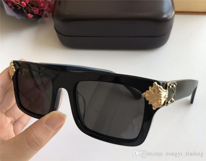 New arrival 1260 Shiny Gold Summer Style Laser Logo Gold Plated Top Sunglasses Retro Vintage Men Designer women Sunglass E1260