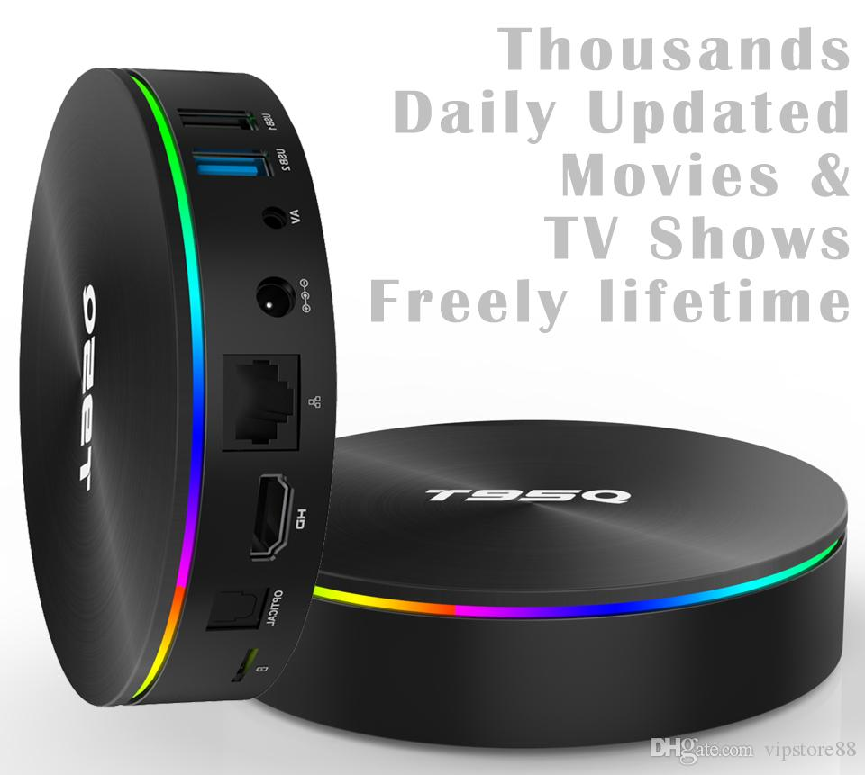 1pcs T95Q Amlogic S905X2 4K Smart Android 8.1 TV Box 4GB/32GB 4GB/64GB  Thousands Daily Updated Movies & TV Shows