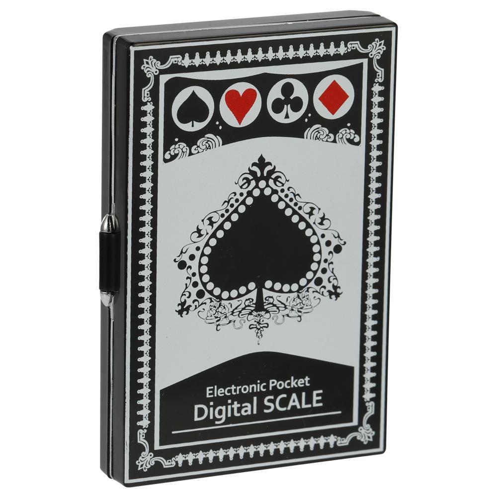 Mini Balanzas digitales de precisión portátiles Exactitud electrónica Pantalla digital Tipo de póquer Té de bolsillo Escala de joyería de oro