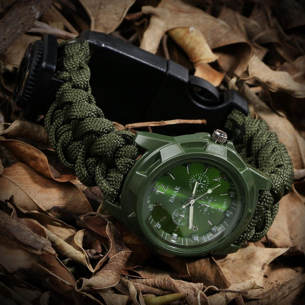 Outdoor camping survival tools Camping Medical Multi-functional Compass Thermometer Rescue Paracord Bracelet Equipment Tools kit (6)