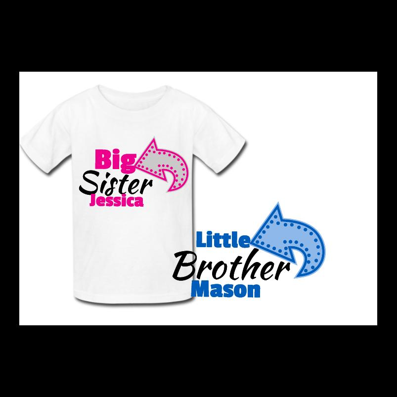 bc9e3069 Personalised Big Sister Little Brother Matching T Shirts New Baby Shower  Gift Cool Tee Shirts Cheap Business Tee Shirts Printing From  Designtshirts201806, ...